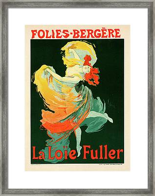 Poster For Les Folies-bergère Framed Print by Liszt Collection