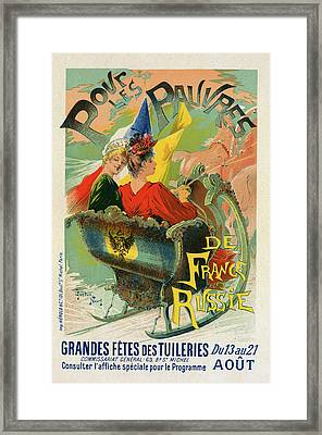 Poster For Les Grandes Fêtes Des Tuileries Framed Print by Liszt Collection