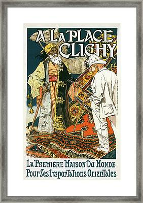 Poster For Magasin De Nouveautés A La Place Clichy Framed Print