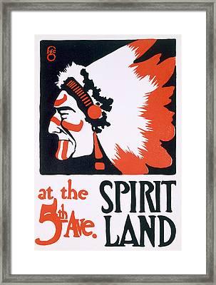 Poster For Spirit Land Framed Print by Frederic G Cooper