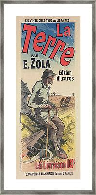 Poster For The Book Of M. Émile Zola, La Terre Framed Print