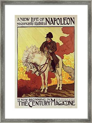 Poster For The Century Magazine Framed Print