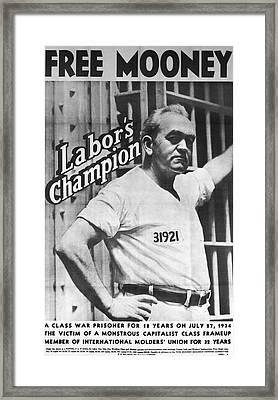 Poster For Tom Mooney Framed Print