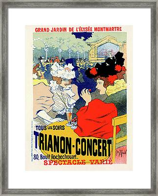 Poster For Trianon-concert. Georges Meunier Framed Print by Liszt Collection