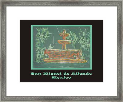 Poster - Green Fountain Framed Print by Marcia Meade