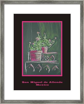 Poster - Green Geranium Framed Print by Marcia Meade