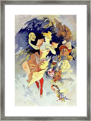 Poster La Comédie. Crazy Happiness, Chéret Framed Print by Liszt Collection