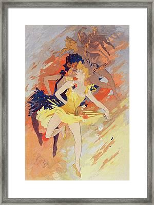 Poster La Danse, The Dance. Chéret, Jules 1836-1932 Framed Print by Liszt Collection