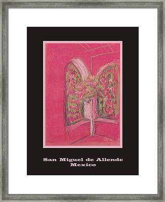 Poster - Light Pink Patio Framed Print by Marcia Meade