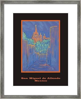 Poster - Lower San Miguel De Allende Framed Print by Marcia Meade