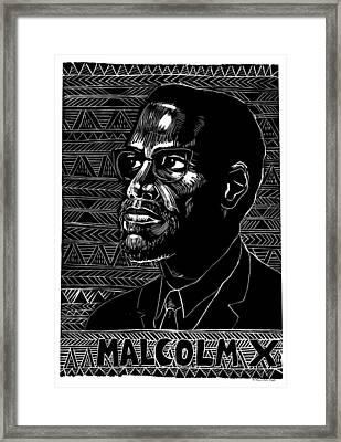 Poster Malcolm X, 1976 Framed Print by Granger