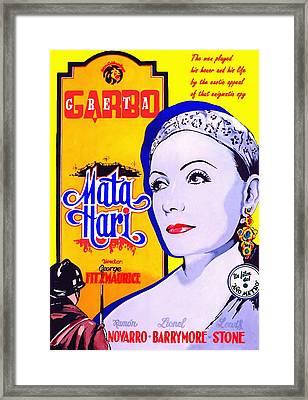 Poster Of Mata Hari Framed Print by Art Cinema Gallery