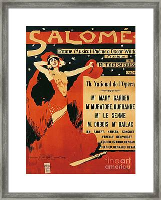 Poster Of Opera Salome Framed Print