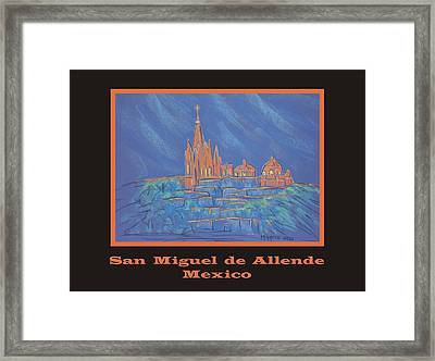 Poster - Parroquia From Below Framed Print by Marcia Meade