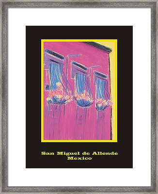 Poster - Pink Balconies Framed Print by Marcia Meade