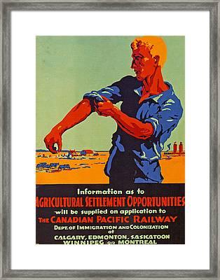 Poster Promoting Emigration To Canada Framed Print