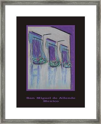 Poster - Purple Balcony Framed Print by Marcia Meade