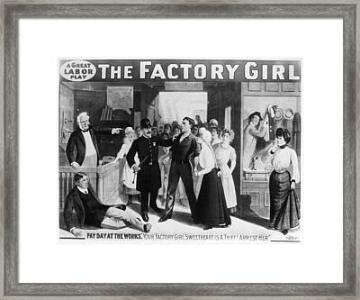 Poster The Factory Girl Framed Print by Granger
