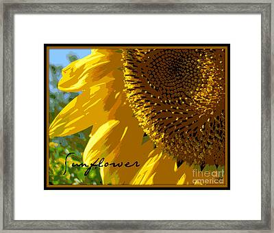 Framed Print featuring the photograph Posterized Sunflower by Heidi Manly