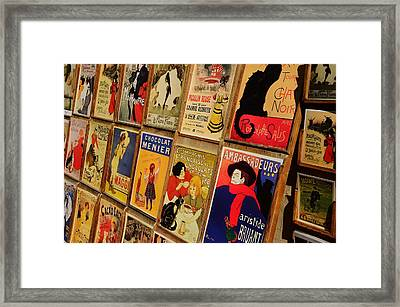 Posters In Paris Framed Print by Dany Lison