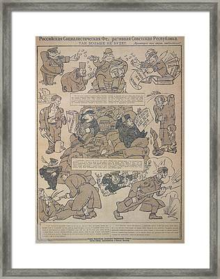 Posters Issued By The Soviet Gover Framed Print by British Library