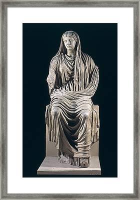 Posthumous Statue Of Livia Framed Print by Roman School