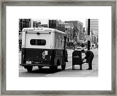 Framed Print featuring the photograph Postman by Tom Brickhouse