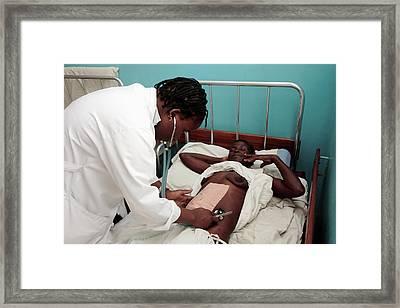 Postnatal Monitoring Framed Print by Mauro Fermariello/science Photo Library