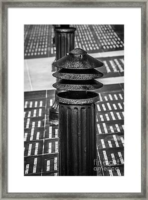 Posts 1 - Key West Aids Memorial - Black And White Framed Print