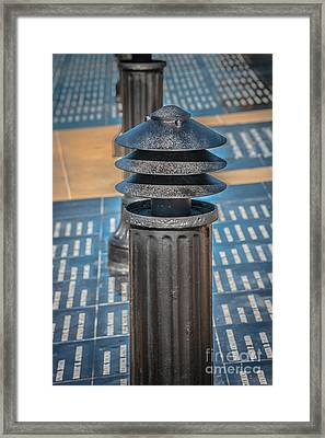 Posts 1 - Key West Aids Memorial - Hdr Style Framed Print