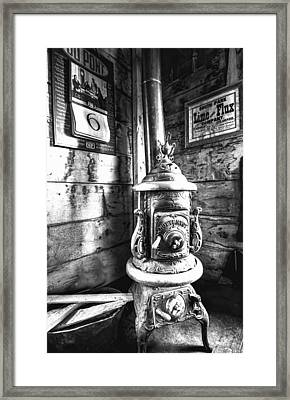 Pot Belly Stove Framed Print