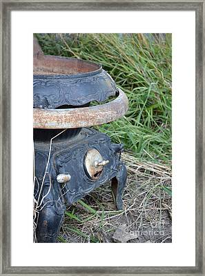 Pot Belly Stove Framed Print by Renie Rutten