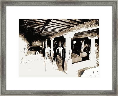 Pot Clay Kneaded With Bare Feet, Pottery Industry Framed Print