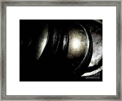 Framed Print featuring the photograph Pot Lids by Newel Hunter