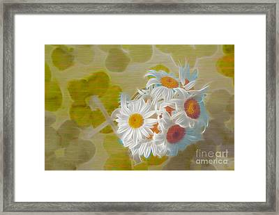 Pot Of Daisies 02 - S13ya Framed Print
