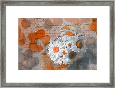 Pot Of Daisies 02 - S3r-rngt1d Framed Print