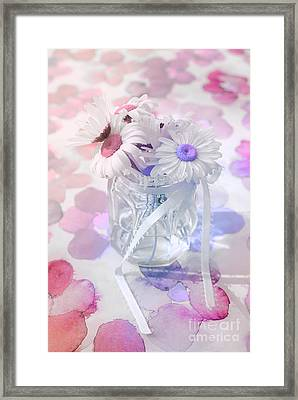 Pot Of Daisies 03s29d - Du Bonheur En Pot Framed Print by Variance Collections
