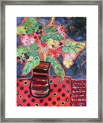 Pot Of Ferns Framed Print