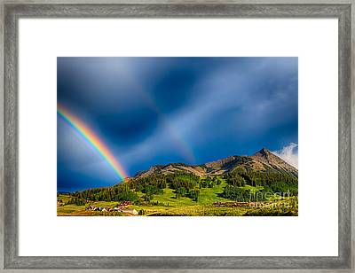 Pot Of Gold - Crested Butte Colorado Framed Print by Scotts Scapes