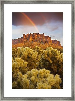 Pot Of Gold Framed Print by Peter Coskun