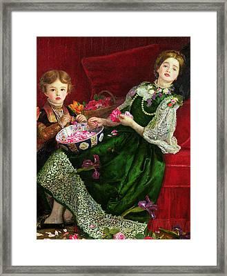Pot Pourri  Framed Print by Sir John Everett Millais