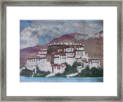 Potala Palace In Lhasa Tibet Framed Print by Vikram Singh