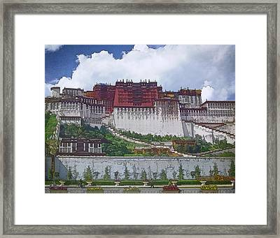Potala Palace Framed Print by Joan Carroll
