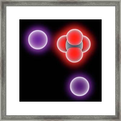 Potassium Chromate Molecule Framed Print by Laguna Design