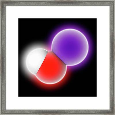 Potassium Hydroxide Molecule Framed Print by Laguna Design