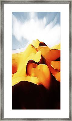 Potato Chip Mountains Framed Print by Bruce Iorio