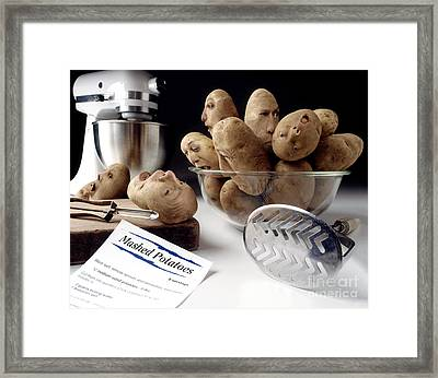 Potato Panic Framed Print by Dick Smolinski