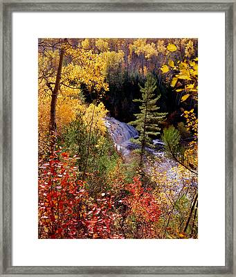 Potato River Lower Falls Framed Print by Tim Hawkins