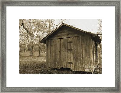 Potato Shed Framed Print by Russell Christie
