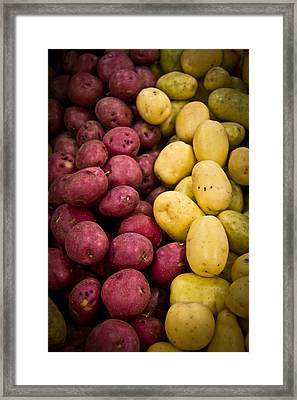 Framed Print featuring the photograph Potatoes by Aaron Berg